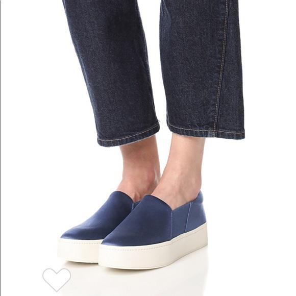 New Vince Warren Platform Sneakers Navy